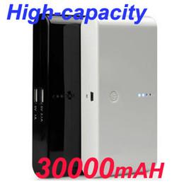 Wholesale 30000mAh mAh Universal Power Bank Dual USB Portable External Battery emergency backup Charger For Samsung S4 S5 I9500 i5 Pad psp DV