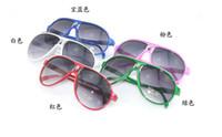 Oval fashion plastic sunglasses - Send freeDHL_100PCS The new children s sunglasses uv protection sunglasses men and women
