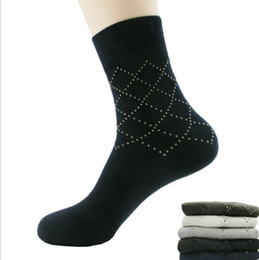Wholesale Dotted Mesh Man s Sock Gentleman Socks Business Casual Socks Pure Cotton Sox Pure Color Socks M8154