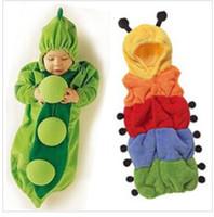 Wholesale 3 styles Newborn Baby sleeping bag caterpillar pea banana sleeping bags Super cute Baby sleeping bag rompers hot sale