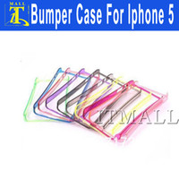 Wholesale Crystal Frame Bumper Cover for Iphone Cell Phone Bumper Case for iphone TPU Frame Case Cover For Iphone5 No Package