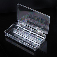 Wholesale 11 Slots Compartments Clear Acrylic Plastic Beads Jewellery Organizer Nail Sticker Storage Box Case