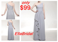 Wholesale 65 OFF A Line Floor Length Silver Chiffon Ruched One Shoulder Evening Dresses inspired by Odette Yustman at Golden Globe Award