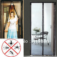 Wholesale 210cm L x cm W Magic Mesh Hands Free Screen Door Magnetic Anti Mosquito Bug