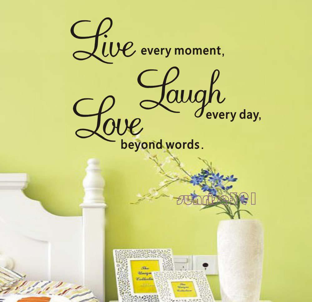 Funky Live Laugh Love Plaque Wall Decor Illustration - The Wall Art ...