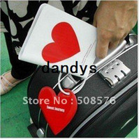 Tag heart model - Passport holder and luggage tag set travel tag Sweet journey heart models