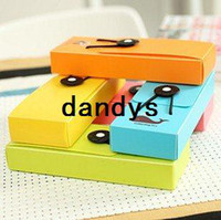 Metal plastic pencil box - Cute style Plastic color Elastic tape pencil box pencil case pencil bag FreeShipping