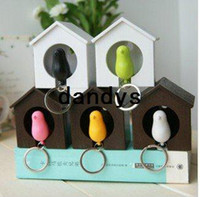 d-ring - Promotions sparrow key ring with whistle have bird s nest hang on the wall bird key ring great gift