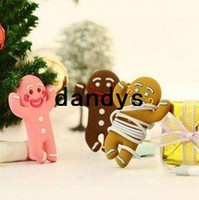 Wholesale Free Shipment lovely gingerman earphone winder humming roll up Moblie Earphone bobbin winder cable management