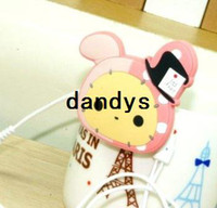 Wholesale FreeShipping Cute style cartoon rabbit Earphone Winder Wire holder cable management coiling line device