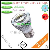 100x Dimmable Led COB Lamp GU10 E27 MR16 B22 E14 GU5. 3 9W 15...