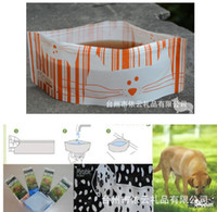 Wholesale Plastic Portable Pet Bowl Travel Camping Food Dish Drinking Tool Collapsible Folding Dog Bowl