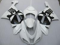 Wholesale Fairing for KAWASAKI Ninja ZX6R ZX R R White saucerman