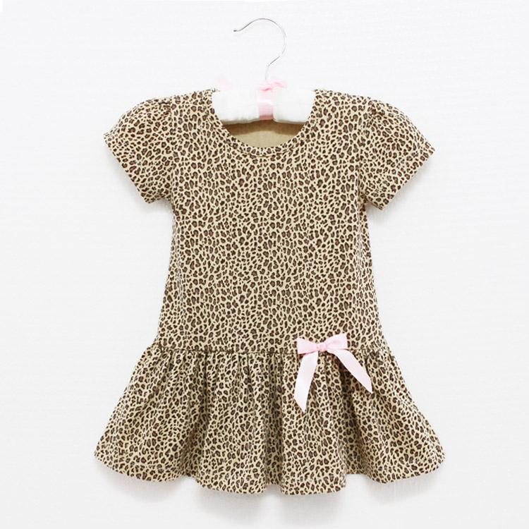 2017 Baby Kids Clothing Girls Leopard Dress Cute Lovely From ...