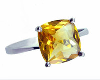 Cheap Counters authentic 925 sterling silver natural citrine ring simple and stylish Lucky gift Safe