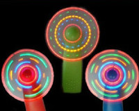 Wholesale baby gift Led Small fan Novelty girl s LED Color Matrix Light Handheld Portable Mini Fan Fans Changing Light Up Travel Cool Fan