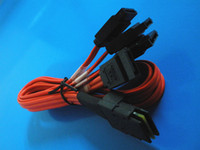 Wholesale Mini SAS P SFF to SATA Pin sata sas Data Cable M Red Cable