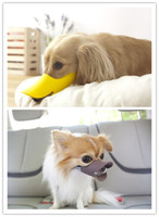 Wholesale Pet food anti bite masks anti pick anti called anti bark super cute funny duck dog sets