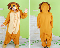 Anime Costumes Unisex Animal Hot New Unisex Adult Onesie Kigurumi Pajamas Anime Cosplay Costume Sleepwear LION