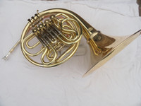 Wholesale double row key single French horn FB key French horn with case surface gold