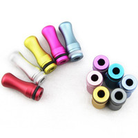 Wholesale Big promotion Colorful E cigarette drip tip mini drip tips Round aluminum drip tip for atomizer