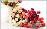 Wholesale mini rose artificial flowers party decorative flower silk flower room decoration party supply