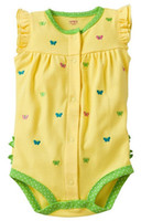 3-6 Months Boy Summer baby one-piece clothes baby bodysuits toddler rompers overalls shortall cotton tank tops shorts jumpers short-Sleeved babywear M1562