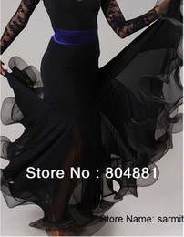 Wholesale 3052402 Fashion Women Ballroom Dance Dress Black Blue Red Purple Flamenco Skirts