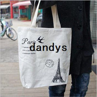 Wholesale New Paris black amp white color shopping bag quality Handbag