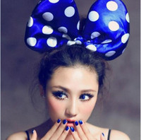 Wholesale Lovely Mickey Minnie Mouse Costume Ears Polka Dots Bow Hair