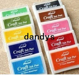 Wholesale 14 Color Crystal Craft Ink Pad Colorful Cartoon Ink Pad Ink stamp pad Good for DIY funny Work FreeShipping
