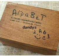 Wholesale wood number and letter stamp gift set mini stamp Iron Box multi purpose Decorative DIY funny work