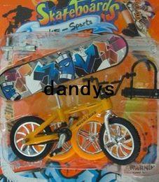 Wholesale Finger skate boarding FSB fancy toy gift for kids Vintage Finger Bike Shop Set kid s gift10pcs