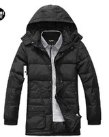 Wholesale High Quality Design Men Down Jacket Long Pattern Men s Hooded Detachable Pure Color Casual Fashion Winter Jacket