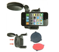No iphone 3G/3GS,iPhone 4,iPhone 4s, 5~7.5cm / 2~2.95in Universal Windshield Dashboard Car Holder Mount for iPhone 4 5 Mobile Phone Cellphone GPS PAD Accessories
