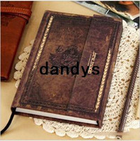 Wholesale Stationery Diary book Notpad Notebook memopad Travel planner Journal antique vintage classic carving FreeShipping