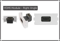 Wholesale 5PCS HDMI FEMALE SOCKET MODULE MODULAR WALL FACE PLATE OUTLET RIGHT ANGLE DEGREE
