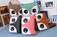 Wholesale Hot Sale women fashion PU leather cute cartoon pattern fox head shoulder messenger bag handbags Colors cheap sale