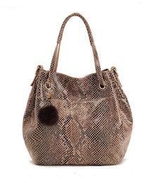 Wholesale Hot Sale Fashion Snake Skin Casual Bags Embossed Shoulder Bag Shopping Bag Big Bag Leathe High Quality colors