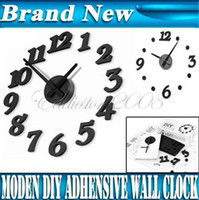 Wholesale New Modern Interior Design Deco Decal DIY Wall Clock