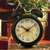 Mechanical 251 HB 3-inch pastoral bell rang the bell alarm clock desk clock alarm clock metal frame of the Child mute