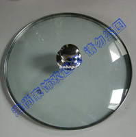 Wholesale Lid stainless steel frame tempered glass lid cm diameter
