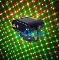Wholesale 5pattern Remote control mini Red Green Laser stage Lighting Show Xmas Party C30R