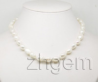 Wholesale natural white baroque pearl necklace gem mm each strand quot long