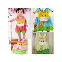 Bébé girafe barboteuse Avis-Girafe de bébé 2 été barboteuse coton bébé garçon et combinaison monopièce girl rose salopette bleu bébé Pantalons livraison gratuite collants