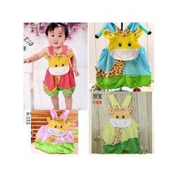 Wholesale Girafe de bébé été barboteuse coton bébé garçon et combinaison monopièce girl rose salopette bleu bébé Pantalons livraison gratuite collants