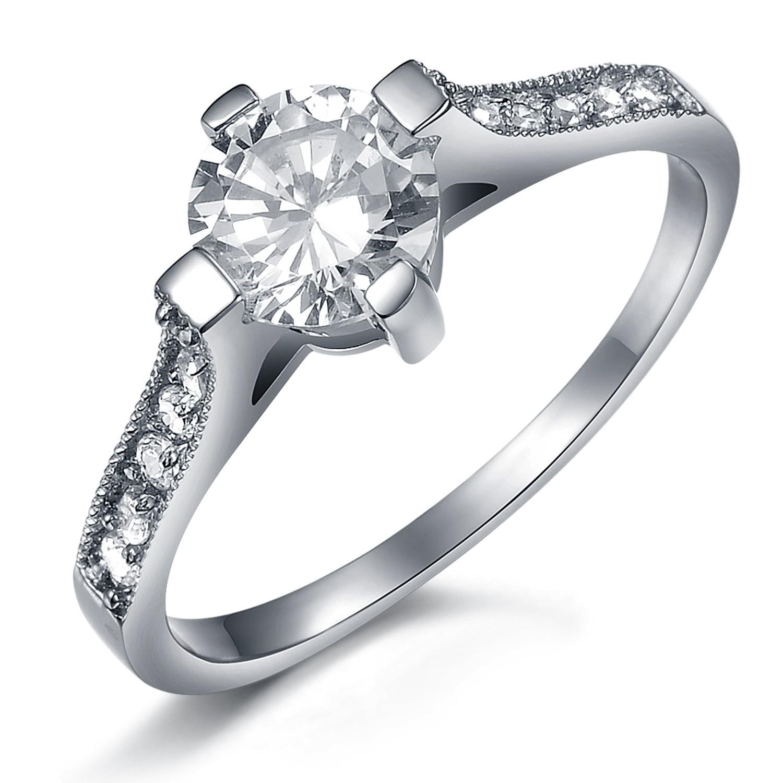 Free Shipping - Swiss Diamond - a04 - Ms. titanium steel ring - wedding ring