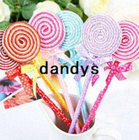 Wholesale New Cute Creative Lollipop Ball Point Stationery Pen Promotional pens