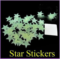 Wholesale Wall glow star stickers glow in the dark stars wall sticker Decal Baby Kids Gift Nursery Room stars per set