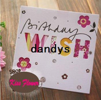 Wholesale Sweet wish lovely for you happy birthday gift card greeting christmas printed card kid gift FreeShipping